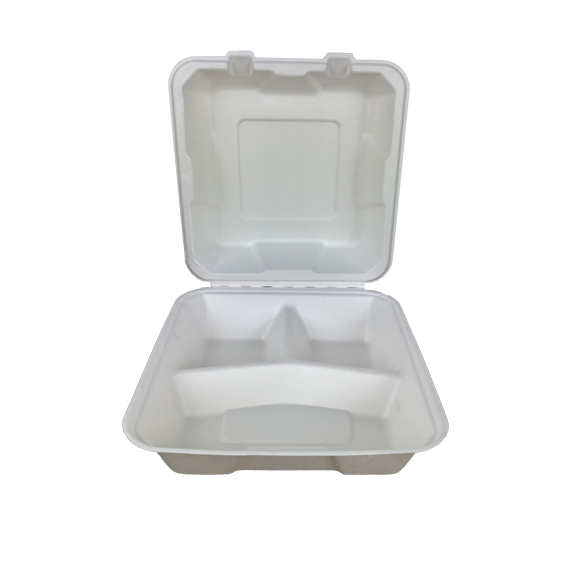 Menubox 3-dzielny z trzciny cukrowej duży